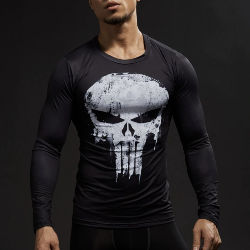 bc87fa4e Punisher Full Sleeve Compression Shirt - Totally Superhero